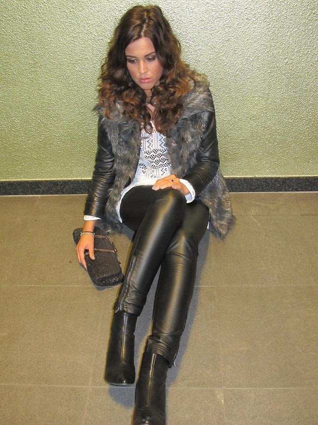 It's leather today