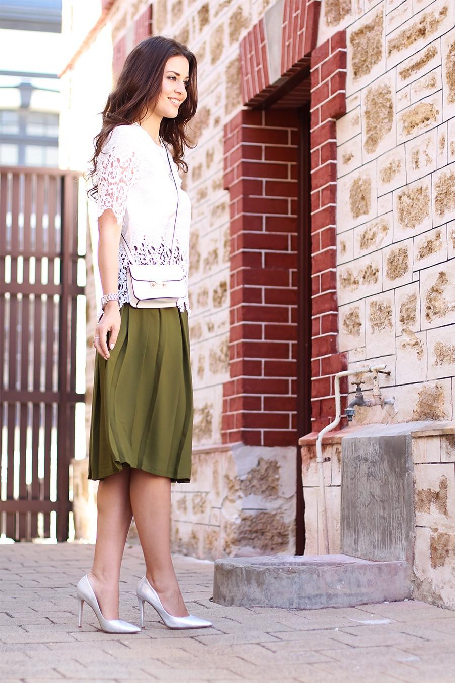 khaki-pleated-midi-skirt-asos