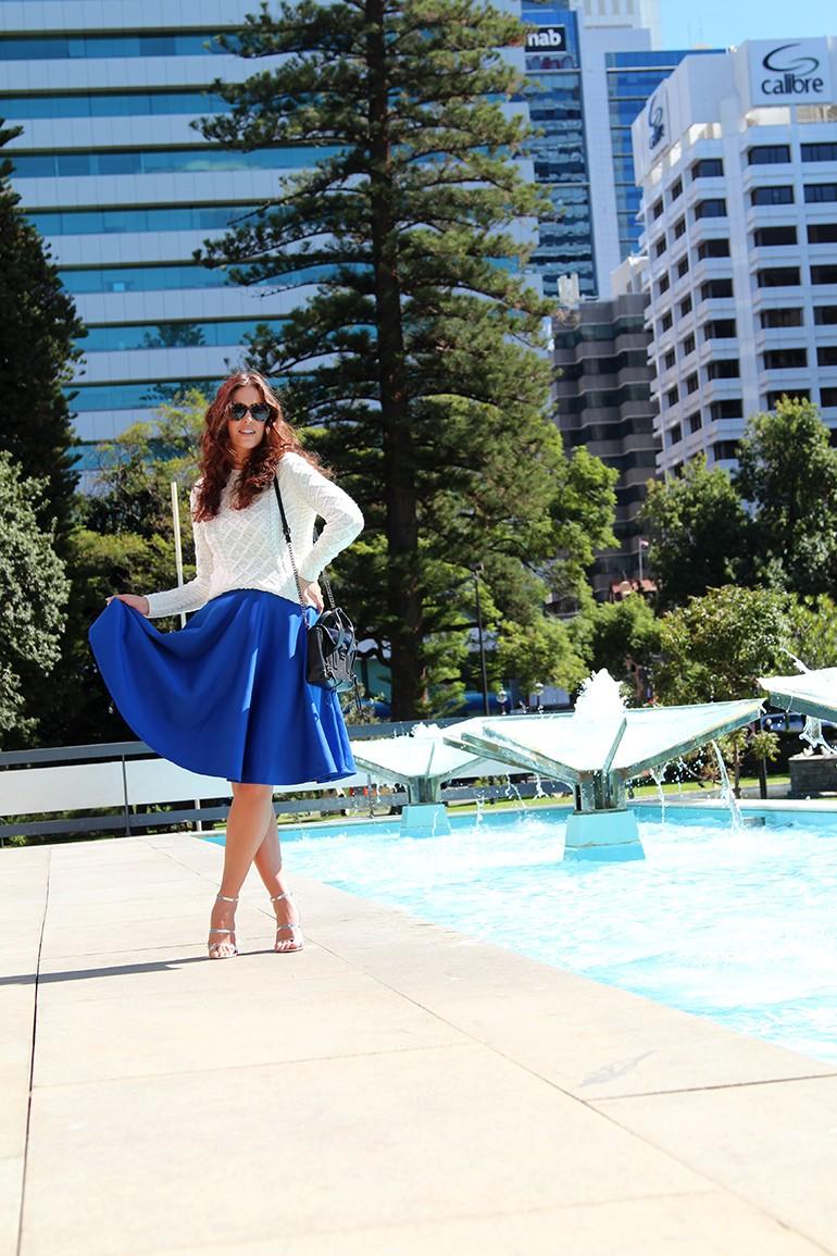 Cobalt Scuba Skirt