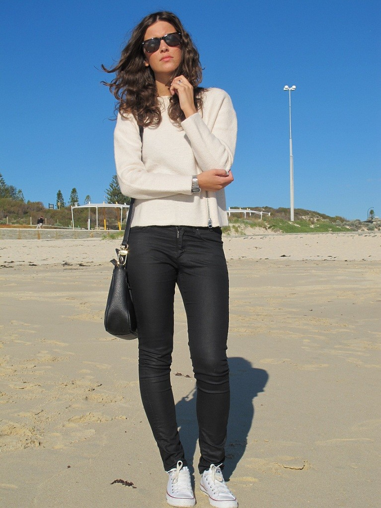 At Perth City beach
