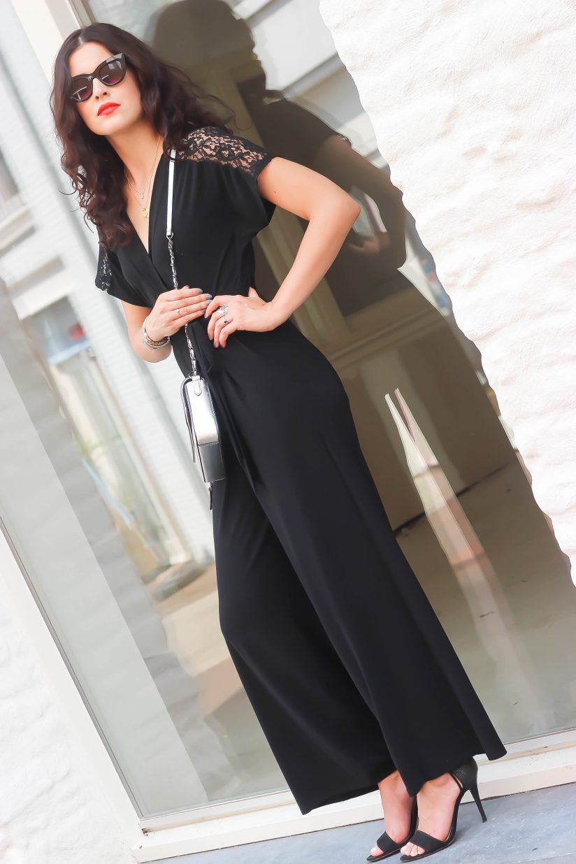 The black jumpsuit Fashion Container Fashion and Travel blog