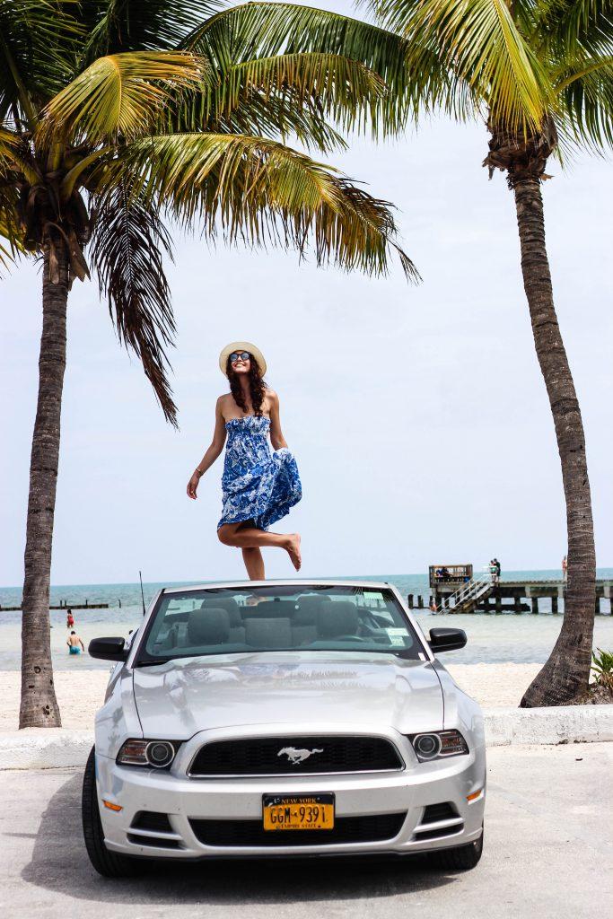 keywest-car-palmtree-hat