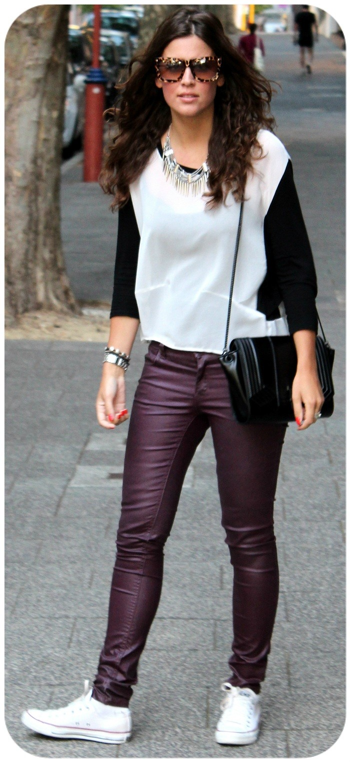 Casual burgundy