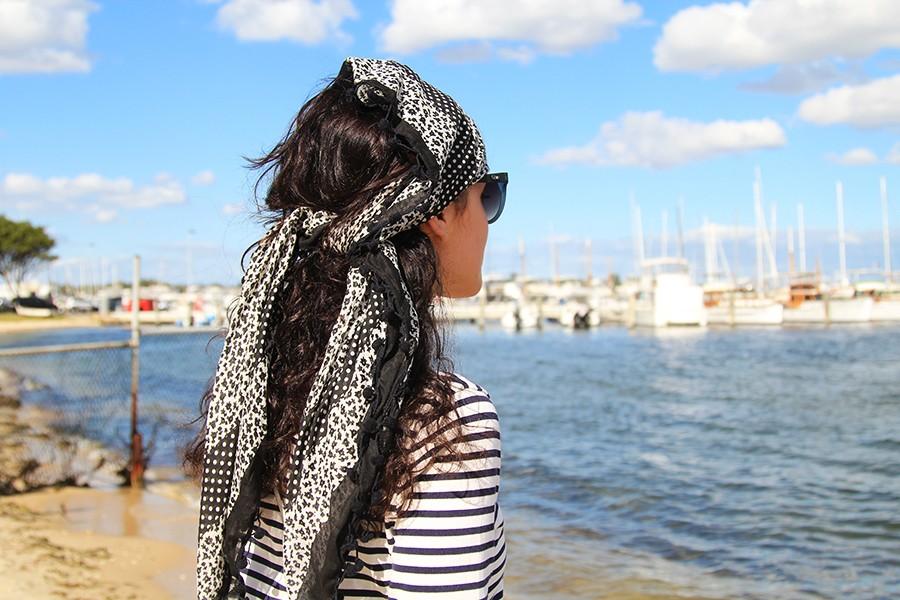 scarf-as-headband